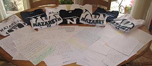 Football program partners with Letters Project